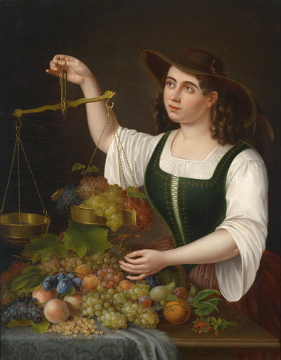 S Bohm George Forster Young Girl as a Fruit Seller for sale